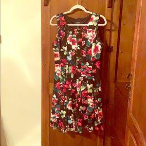 Black Flowered Dress